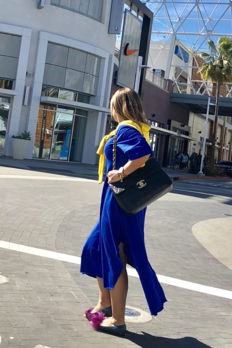 BLUE DRESS CHANEL BAG FENDI SHOES Long Beach THE PIKE